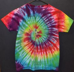 OMG THERE IS ONLY ONE LEFT GET IT WHILE THEY ARE STILL HERE!! Kids Tie Dye Large TShirt Rainbow Swirl by TheTieDyedPanda on Etsy, $14.00
