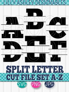 Image Result For Free Monogram Fonts Split Cricut