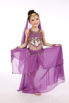 228468e8df54d Children Belly Dancing Costume Kids Indian Dance Dress 5 Pcs Bollywood Dance  Costumes For Girls Performance Dancing Sets