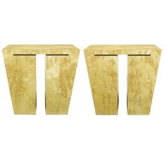 Pair David Gulassa Studio End Tables   From a unique collection of antique and modern end tables at https://www.1stdibs.com/furniture/tables/end-tables/