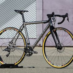 "kinkicycle: ""Litespeed CX Titanium… built with Enve Cross Disc fork, SRAM Force 22, Stans NoTUBES Iron Cross Team wheels, Challenge Chicane Gumwall 33c tire, Chris King headset, 3T ARX ll Team Stealth stem, Ergonova Team Stealth bar & Stylus Team..."