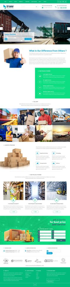Trans #Logistic is best Responsive WordPress Theme for Transport & Cargo & Online Cargo Tracking & Business #Website.
