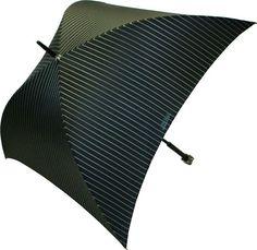 black pin striped umbrella