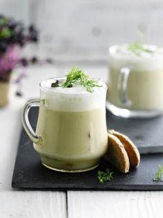 Venkelcappuccino met gerookte kip