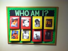 Black history month bulletin board! Pictures flip up to reveal the name and facts about the famous individuals in history!