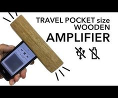 Travel pocket size WOODEN AMPLIFIER for smartphones