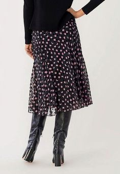 Massimo Dutti Femme Tricot Noir Midi Jupe avec boutons taille S//10UK