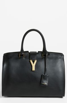Saint Laurent - Black Ligne Y Leather Satchel