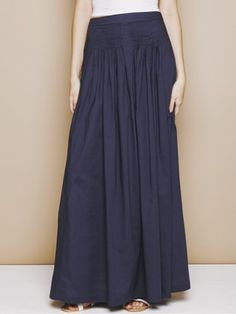 navy cotton maxi skirt = YES