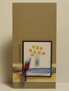 Simple Tulips by Miss Minx - Cards and Paper Crafts at Splitcoaststampers