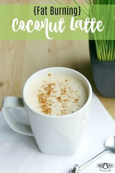 Fat Burning Coconut Latte. Get into fat burning mode with my coconut latte. Easy to make and delicious for your morning coffee. Better than bulletproof! Low Carb, Keto, Paleo, Vegan, Dairy Free, Gluten Free, Sugar Free
