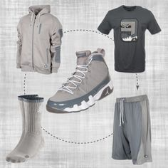 """Air Jordan Cool Grey IX's"" by finishline on Polyvore"