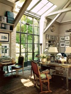 Oh, that window. I would need more table space for my studio, but that window is killer.