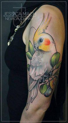 Jessica Mach cockatiel tattoo
