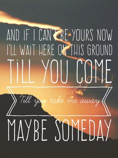 Maybe Someday - Griffin Peterson - Maybe Someday Soundtrack #lyrics #retype