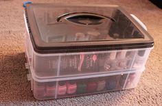 New nail polish storage diy box tips 34 Ideas Diy Makeup Vanity, Makeup Box, Makeup Storage, Nail Polish Box, Nail Polish Storage, Craft Paper Storage, Diy Storage, Kitchen Storage, Nail Organization