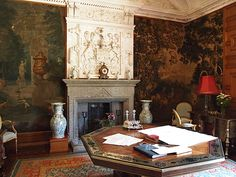 The Morning Room,  Lanhydrock House, Bodmin, Cornwall. England