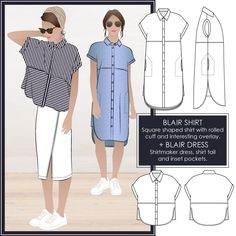 Blaire Shirt or Dress by Style Arc Sewing Patterns