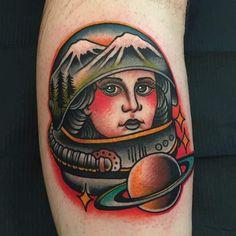 A female astronaut (Samuele Briganti)