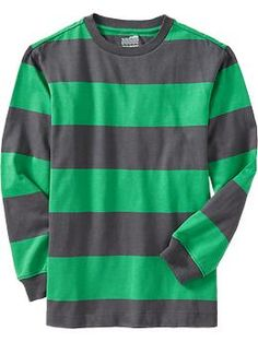 Boys Long-Sleeve Rugby-Stripe Shirts | Old Navy