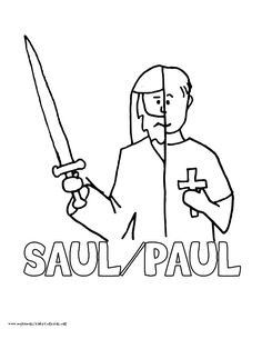 ananias and saul coloring pages | saul on the road to damascus craft - Google Search | Bible ...