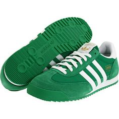 mens adidas dragon trainers green