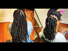 #458. HIDE THE RUBBER BAND ; SHORT VERSION , PASSION TWIST - YouTube African Braids Hairstyles, Twist Hairstyles, Everyday Hairstyles, Twist Curls, Twist Braids, Rubber Band Hairstyles, Curly Hair Styles, Natural Hair Styles, Crochet Hair Styles