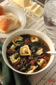 Sausage, Spinach and Tortellini Soup  from Lick The Bowl Good: Souper Woman