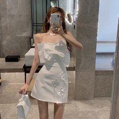 Girls Fashion Clothes, Girl Fashion, Fashion Dresses, Cute Dresses, Casual Dresses, Girls Dresses, Ulzzang Fashion, Asian Fashion, Light Dress