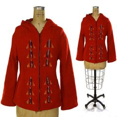 Hey, I found this really awesome Etsy listing at https://www.etsy.com/listing/182557017/guatemalan-hoodie-jacket-red-linen