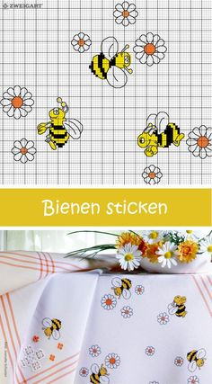 Embroider Merry Bees Discover numerous free charts to embroider! Small Cross Stitch, Cross Stitch For Kids, Cross Stitch Kitchen, Cross Stitch Heart, Cross Stitch Borders, Counted Cross Stitch Kits, Cross Stitch Flowers, Cat Cross Stitches, Funny Cross Stitch Patterns