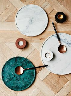 Marble decor might not be going anywhere, but it has been given a slight makeover this year. Coloured marble is one of 2016's stunning new homewares trends, and I've found 11 pieces for your home ...