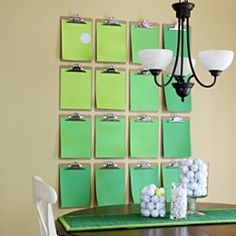 Bring the outdoors inside and decorate your home this summer with a few golf-inspired ideas.