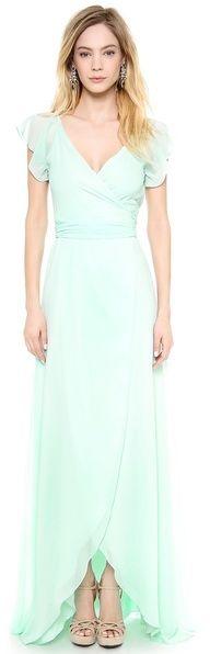 shopbop.com Joanna August Dorian Ruffle Sleeve Wrap Dress