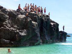 Cliff Diving - Oahu North Shore
