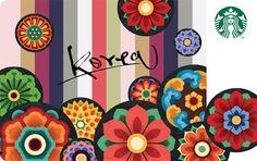 Starbucks Korea Gift Cards Korea Dancheong Card - No Other Value Dunhuang, Food Branding, Korean Wave, Traditional Design, Korean Fashion, Kids Rugs, Tapestry, Display, Graphic Design