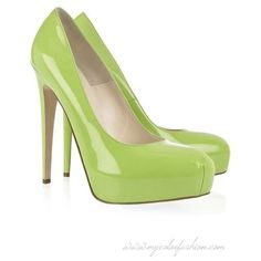 Brian Atwood Maniac patent-leather platform pumps ❤ liked on Polyvore featuring shoes, pumps, heels, green, patent leather pumps, slip on shoes, green platform pumps, platform heels pumps and platform slip on shoes