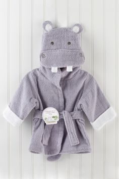 Hug-alot-amus Hooded Hippo Robe //