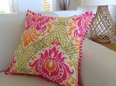 Tropical Cushions Tropical Pillows Pink by IslandHomeEmporium