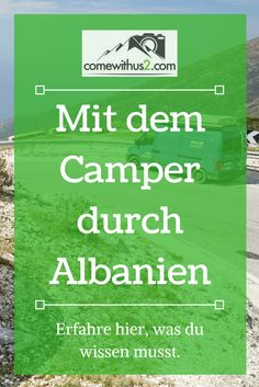 Albania is also good to travel by motorhome or camper. How the security … - Camping Car Camping Essentials, Camping Checklist, Camping Tips, Camping In Deutschland, Roadtrip Europa, Europa Tour, Motorhome Travels, Albania Travel, Reisen In Europa