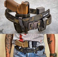 Just get ride of that Glock and I'm happy. Battle Belt, Tactical Belt, Tac Gear, Tactical Equipment, Military Gear, Cool Guns, Guns And Ammo, Self Defense, Revolver