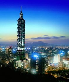 1670 ft Taipei World Financial Center Xinyi District Taipei Taiwan tallest and largest green building in the world Around The World In 80 Days, Places Around The World, Travel Around The World, The Places Youll Go, Places To See, Around The Worlds, Taipei 101, Taipei Taiwan, Wonderful Places