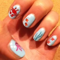 Under the sea nails!!!