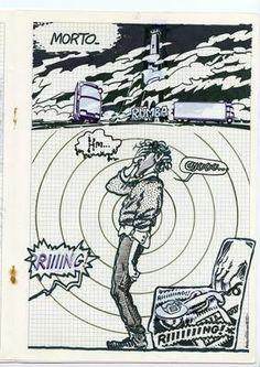 Andrea Pazienza - Il personaggio di Pompeo in Alter Alter, 1985,