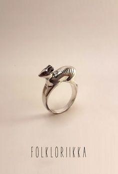 Sterling silver duiker ring #folkloriikka