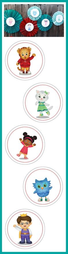 Pinwheel Decorations DIY . Daniel Tiger Birthday Party . PBS Parents