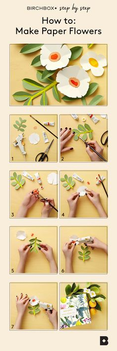 Learn how to make paper flowers — inspired by designs by Rifle Paper Co. for the April 2016 Birchbox.