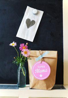 2 SUPER MAMA XL Anhänger ★ Muttertag ★