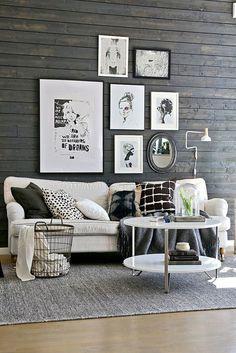 Fin Grå Vägg Nordic Interior, Interior Styling, Living Room Wood Floor,  Living Room