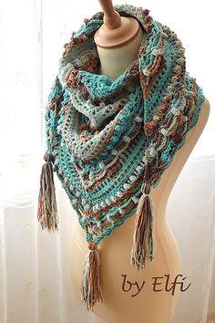 Elfi / ♦ Háčkovaná šatka ♦ Crochet, Outfits, Fashion, Moda, Fashion Styles, Knit Crochet, Crocheting, Clothes, Fashion Illustrations